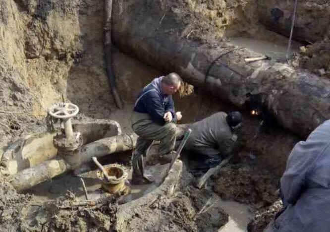 Ремонтные работы на Втором донецком водопроводе