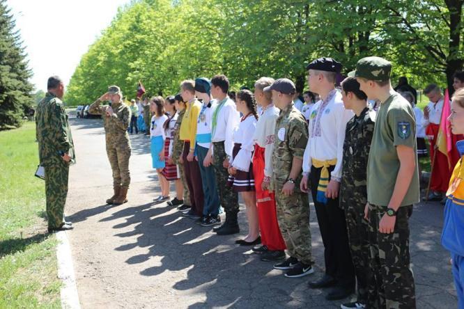 В Константиновке прошел завершающий этап детской военно-патриотической игры «Сокол»