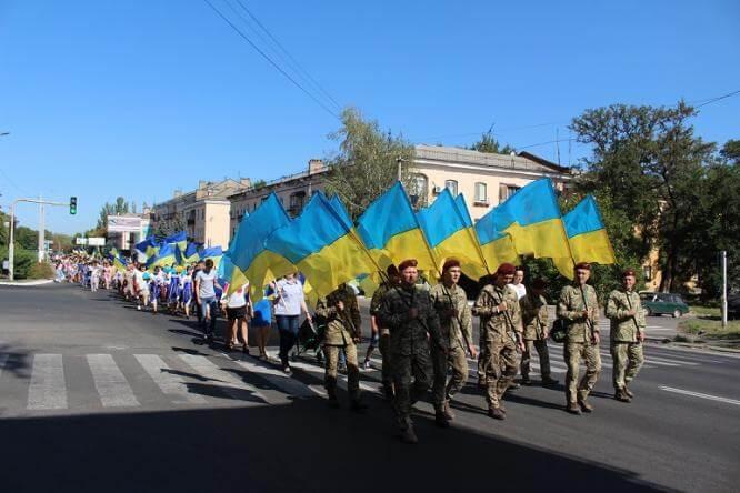 Константиновка отметила День Независимости праздничным шествием