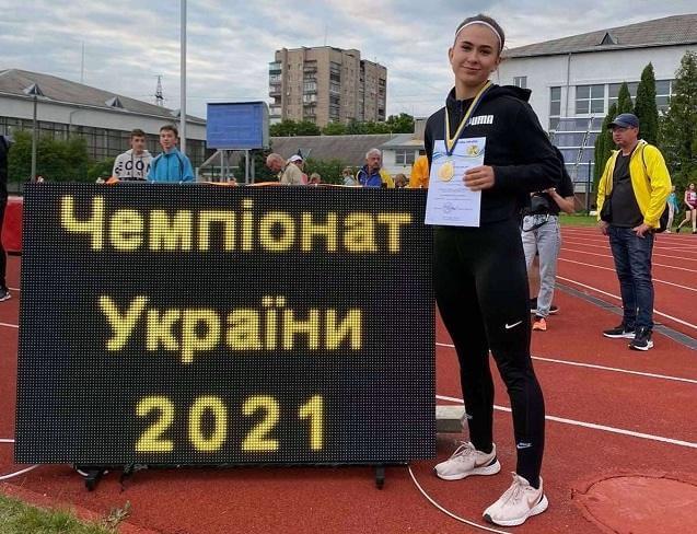 Спортсменка из Константиновки стала чемпионкой Украины в толкании ядра