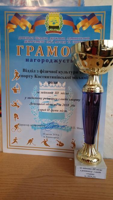 Константиновка заняла III место в сводном рейтинге Донецкой области