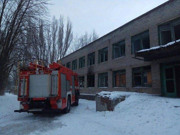 В Константиновке горело здание бывшей школы №12