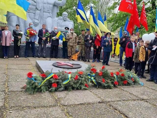 В Константиновке состоялся митинг по случаю Дня победы во Второй мировой войне