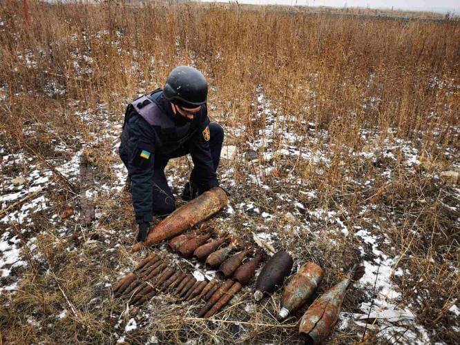 В Константиновском районе пиротехники изъяли 104 единицы взрывоопасных предметов