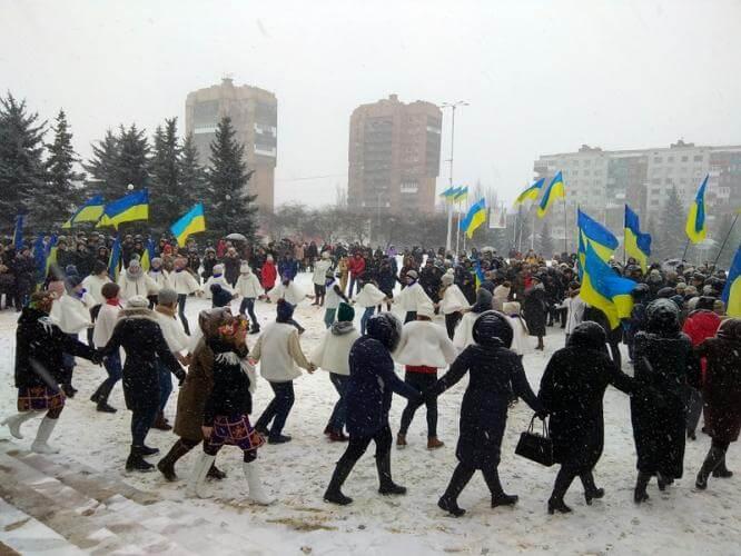 Константиновке отметила День Соборности кругом единства