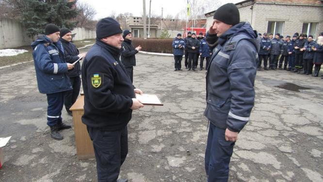 В Константиновке 73 сотрудника ДСНС награждены Знаком отличия Президента Украины