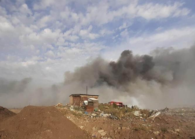 В Константиновке горел полигон твердых бытовых отходов
