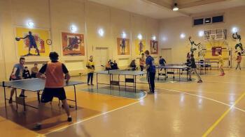 Среди студентов Константиновки определили лучших в настольном теннисе