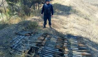 В Константиновском районе обнаружен арсенал оружия