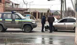 В Константиновке произошло ДТП с участием автомобиля полиции