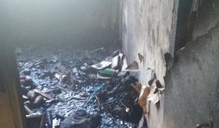 В Константиновке во время пожара в многоэтажке погиб человек