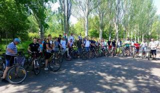 К Всемирному дню велосипедиста в Константиновке был проведен велопробег