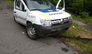 В Константиновке служебный автомобиль полиции попал в ДТП