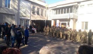 Константиновка торжественно отправила призывников в ряды Украинской армии