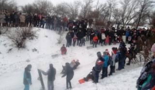 В Константиновке около 150 жителей города приняли участие в зимнем празднике