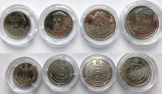 Нацбанк презентовал новые монеты номинальной стоимостью 1, 2, 5 и 10 гривен