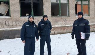 В Константиновке прошел рейд по заброшенным зданиям во избежание пожаров