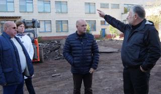 Реконструкция первой школы в Константиновке